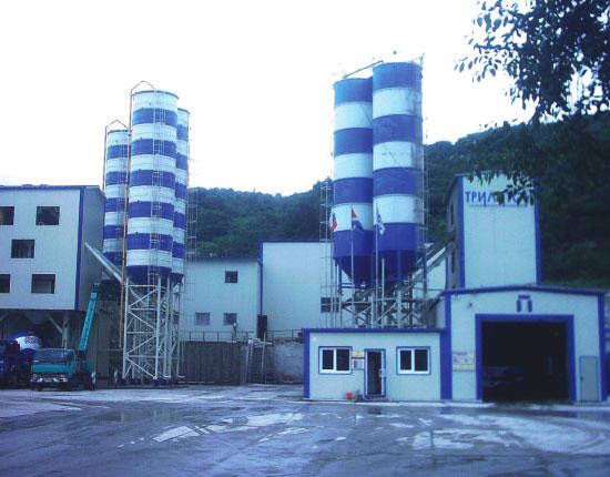 HZS120混凝土搅拌站—施工工地