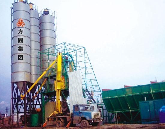 HZS100混凝土搅拌站—俄罗斯圣彼得堡工地
