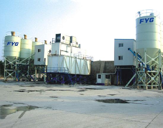 HZS75A混凝土搅拌站—施工工地