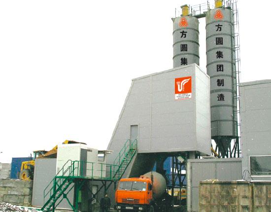 HZS50B混凝土搅拌站—俄罗斯工地