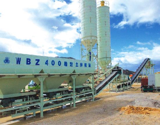 WBZ400稳定土拌和站—施工工地