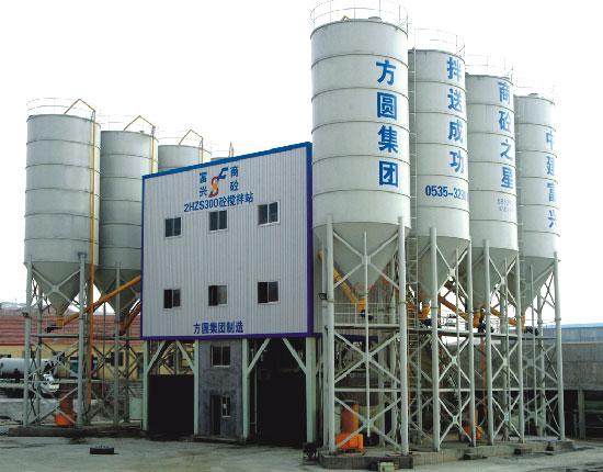 HZS300混凝土搅拌站—青岛富兴商砼工地