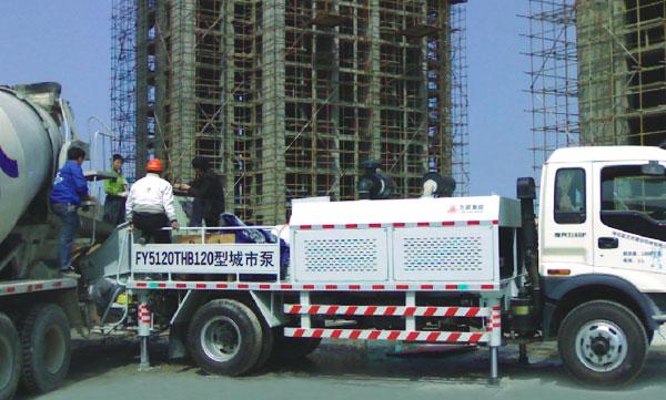 FY5120THB120城市泵—烟台龙海嘉园工地