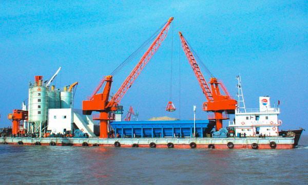 STC150船载混凝土搅拌站—大桥局承建苏通大桥等水上工程
