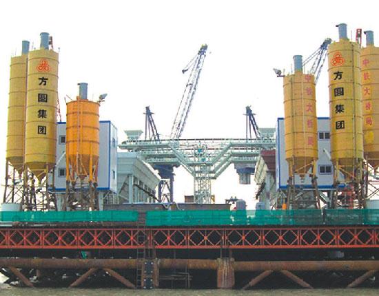 STP150水上平台混凝土搅拌站—大桥局承建鄱阳湖铁路大桥等水上工程