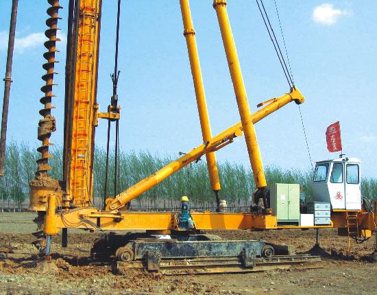 JZB60步履式桩机—哈大高铁工地