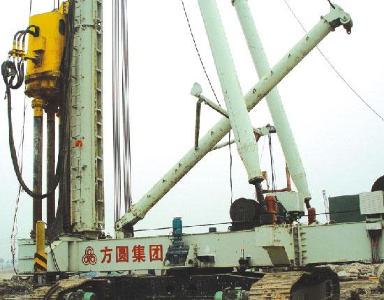 JZL120电动履带式桩机—南京奥体中心工地