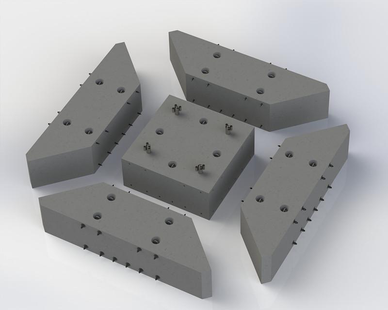 方圆集团预制分体式塔机基础试制成功